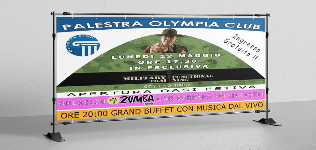 Striscione Olympia Club Lucca
